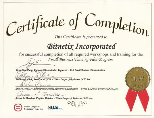 SBTPP Certificate